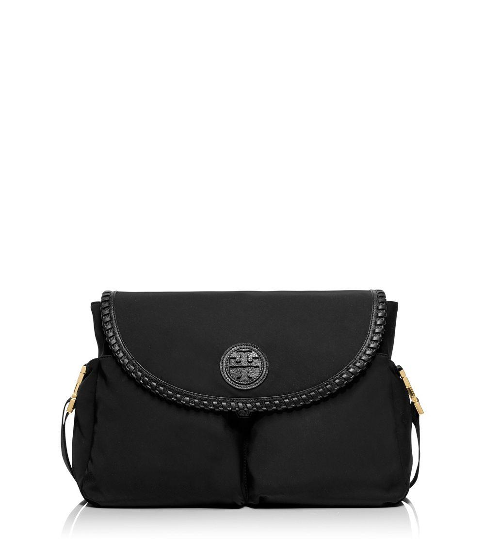 Lyst Tory Burch Marion Nylon Messenger Baby Bag In Black
