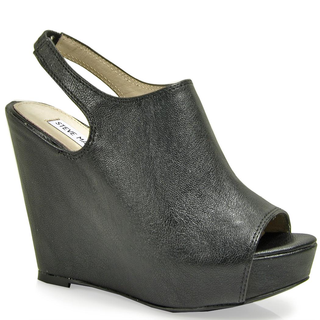 ee59edc72697 Black Platform Sandals  Black Steve Madden Wedges