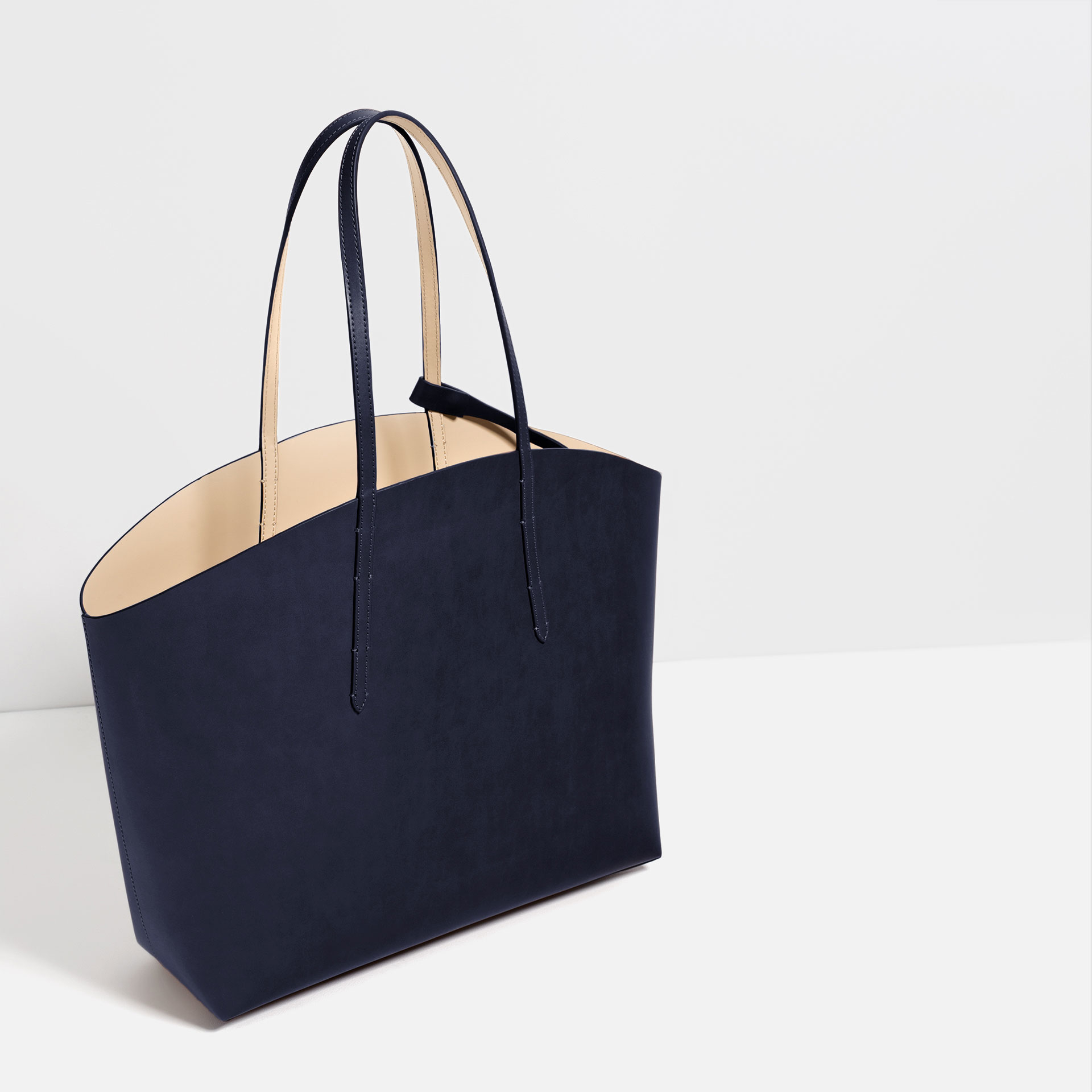 Zara Tote Bag in Blue | Lyst