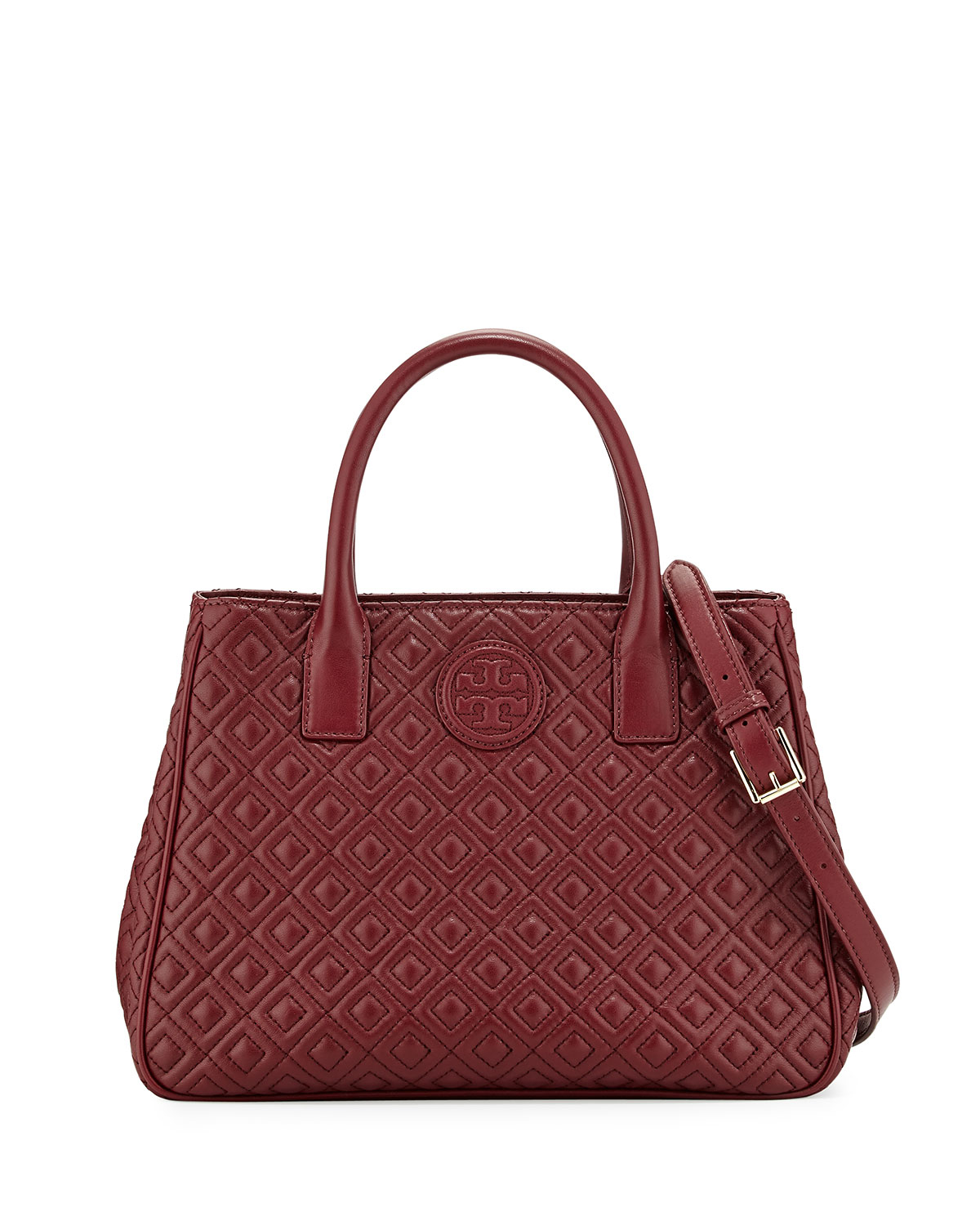 Tory Burch Marion Quilted Tote Bag In Red Lyst