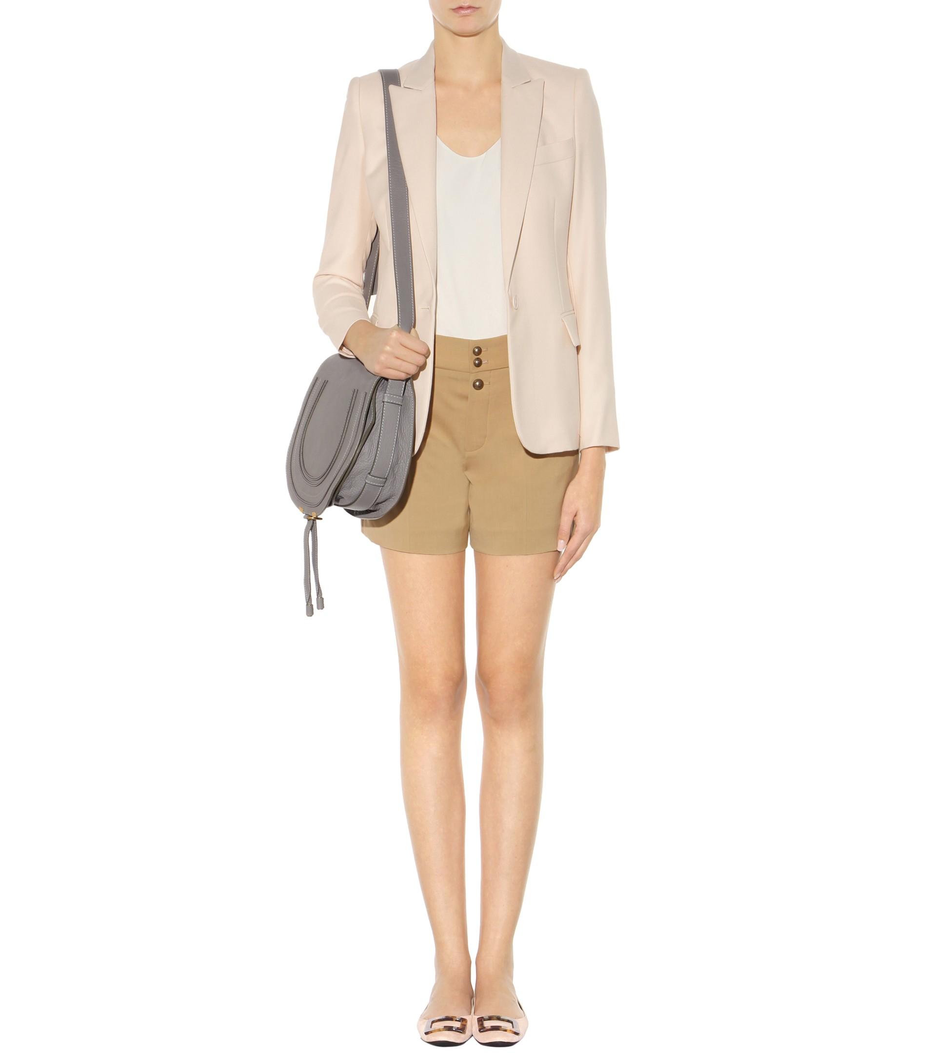 handbags see by chloe - Chlo�� Marcie Leather Crossbody Bag in Gray (Cashmere Grey) | Lyst