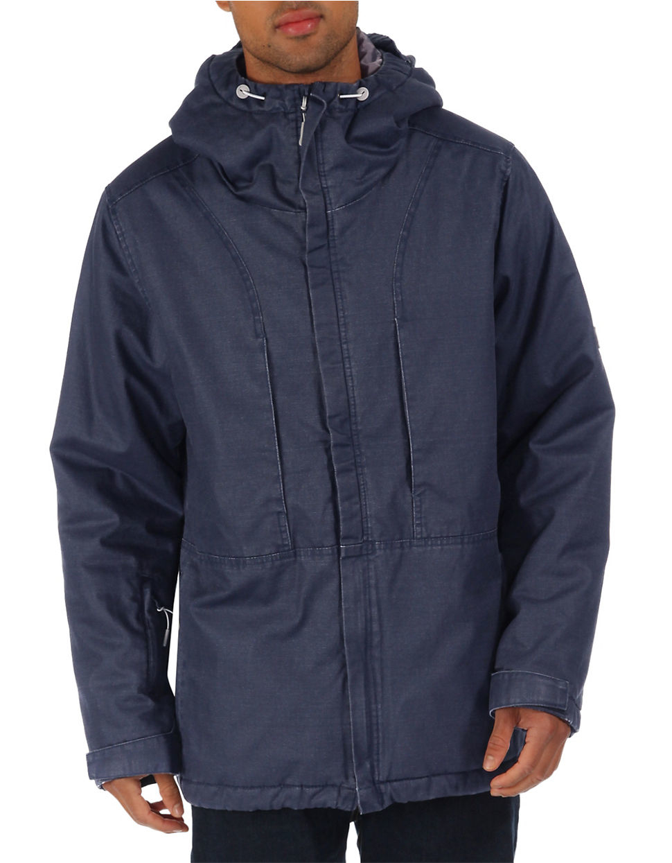 Bench plot hooded jacket in blue for men lyst Bench jacket