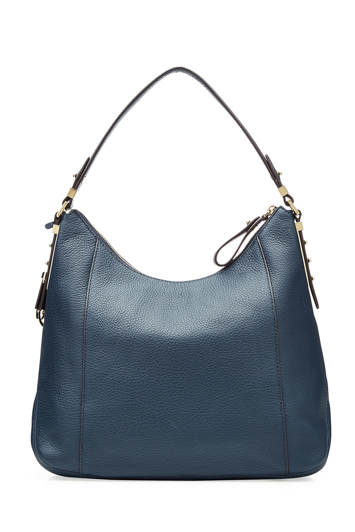 65924043eecb20 ... hot lyst michael michael kors leather bowery large hobo bag blue in  blue f5f53 b57b8