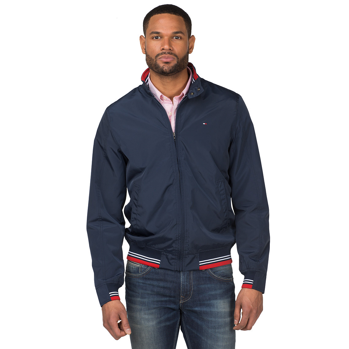 Tommy hilfiger Big Tall Bomber Jacket in Blue for Men | Lyst