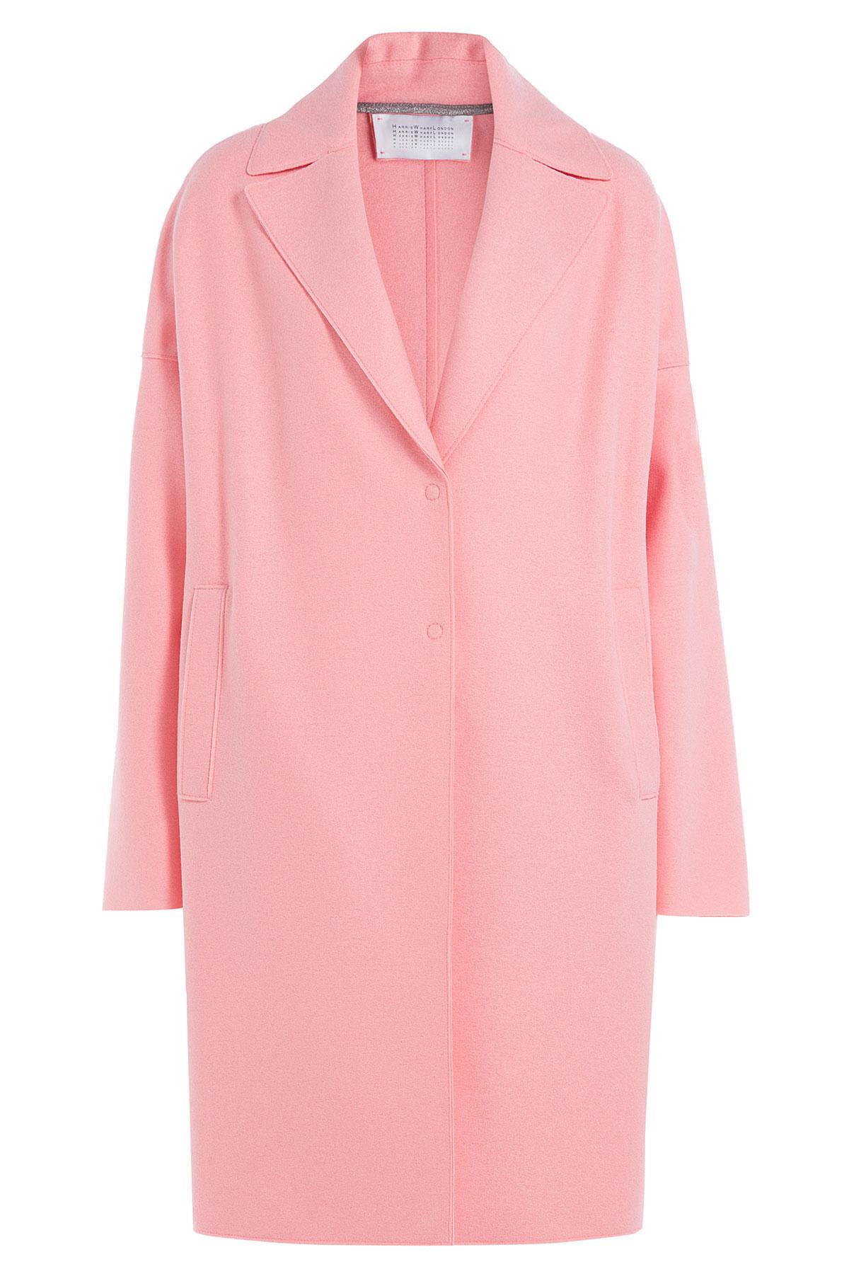 Harris wharf london Felted Wool Coat - Pink in Pink | Lyst