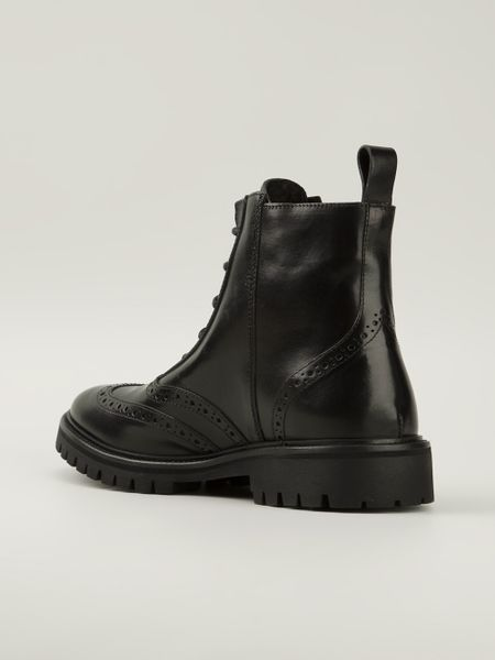Mens Black And Gold Boots Boots in Black For Men