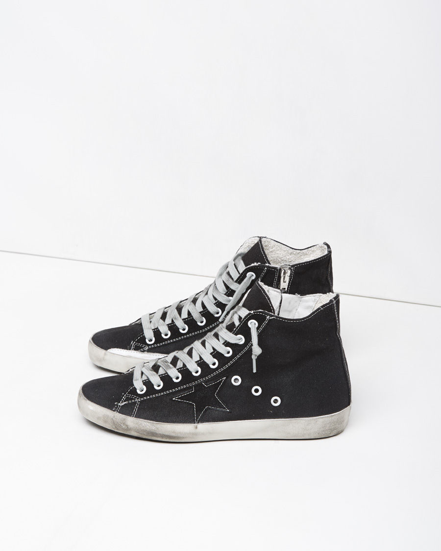 Oie D'or Francy De Luxe De Marque Chaussures De Sport High-top - Noir dbMAM