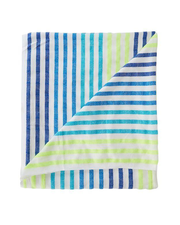 Lyst - Las Bayadas Striped Beach Blanket  Blue neon in Green 071a52838