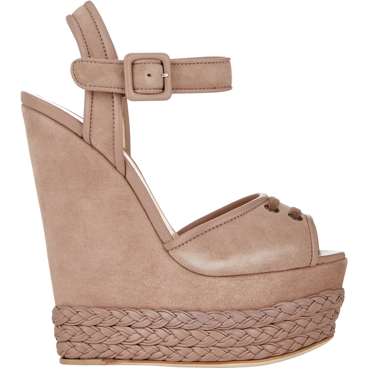 62f696f6956b Lyst - Giuseppe Zanotti Braided Platform-wedge Sandals in Brown