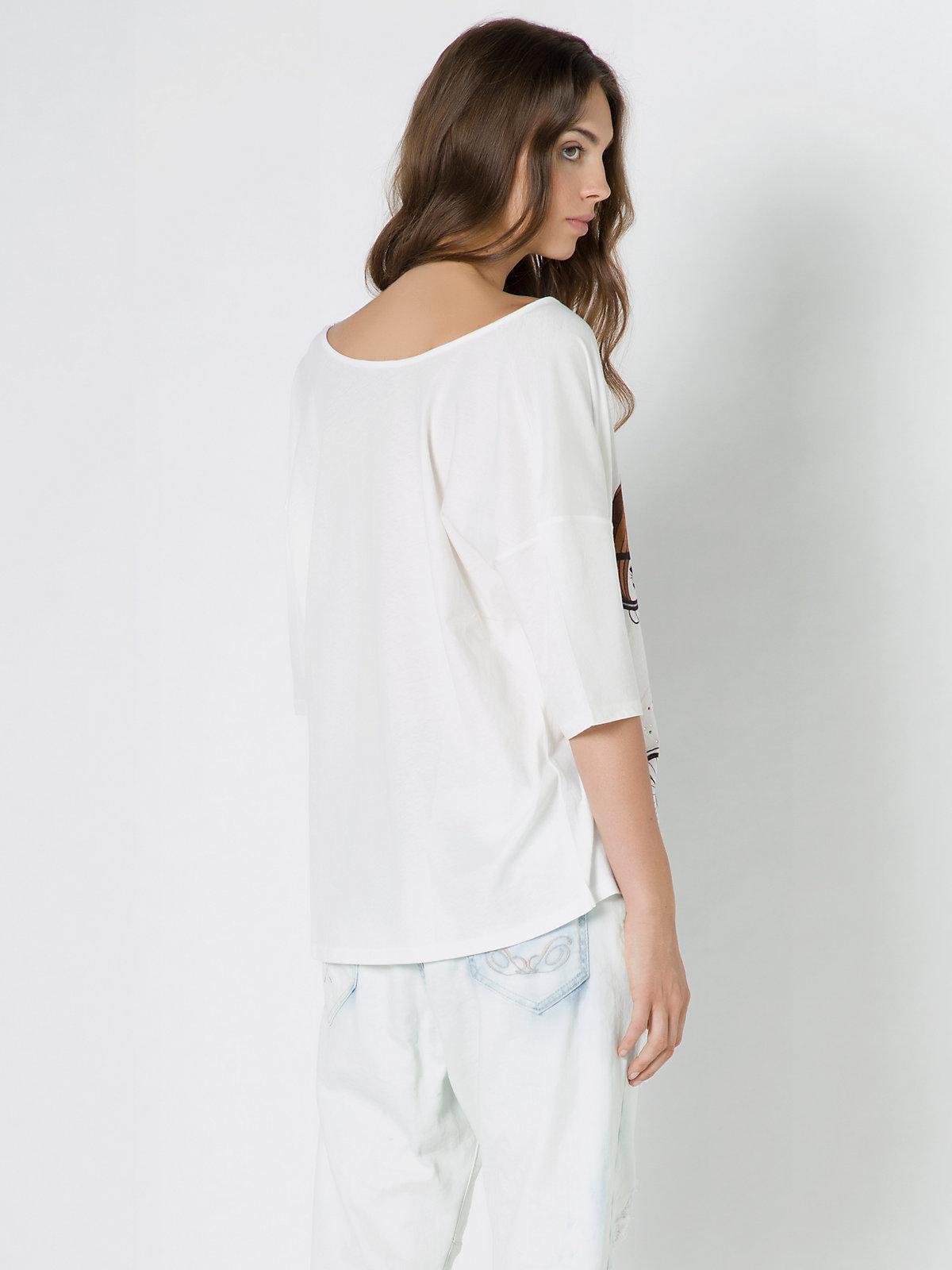 Patrizia pepe three quarter length sleeve cotton t shirt for Three quarter length shirt