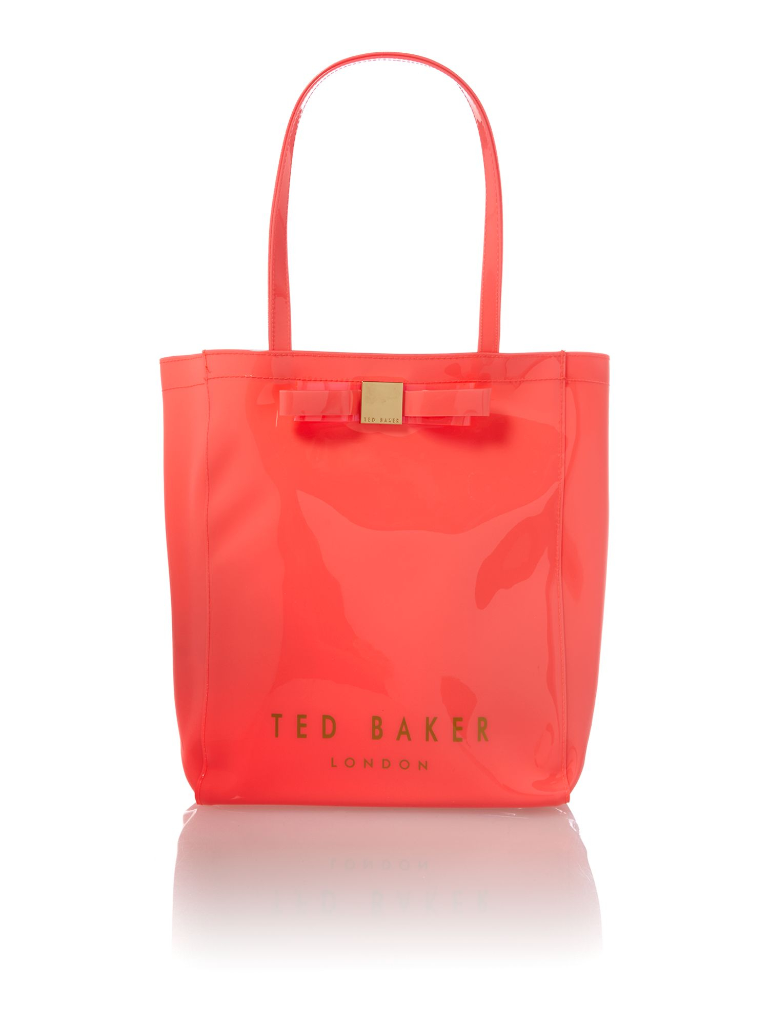 29ba08c5656b4 Ted Baker Large Pink and Clear Bowcon Tote Bag in Pink