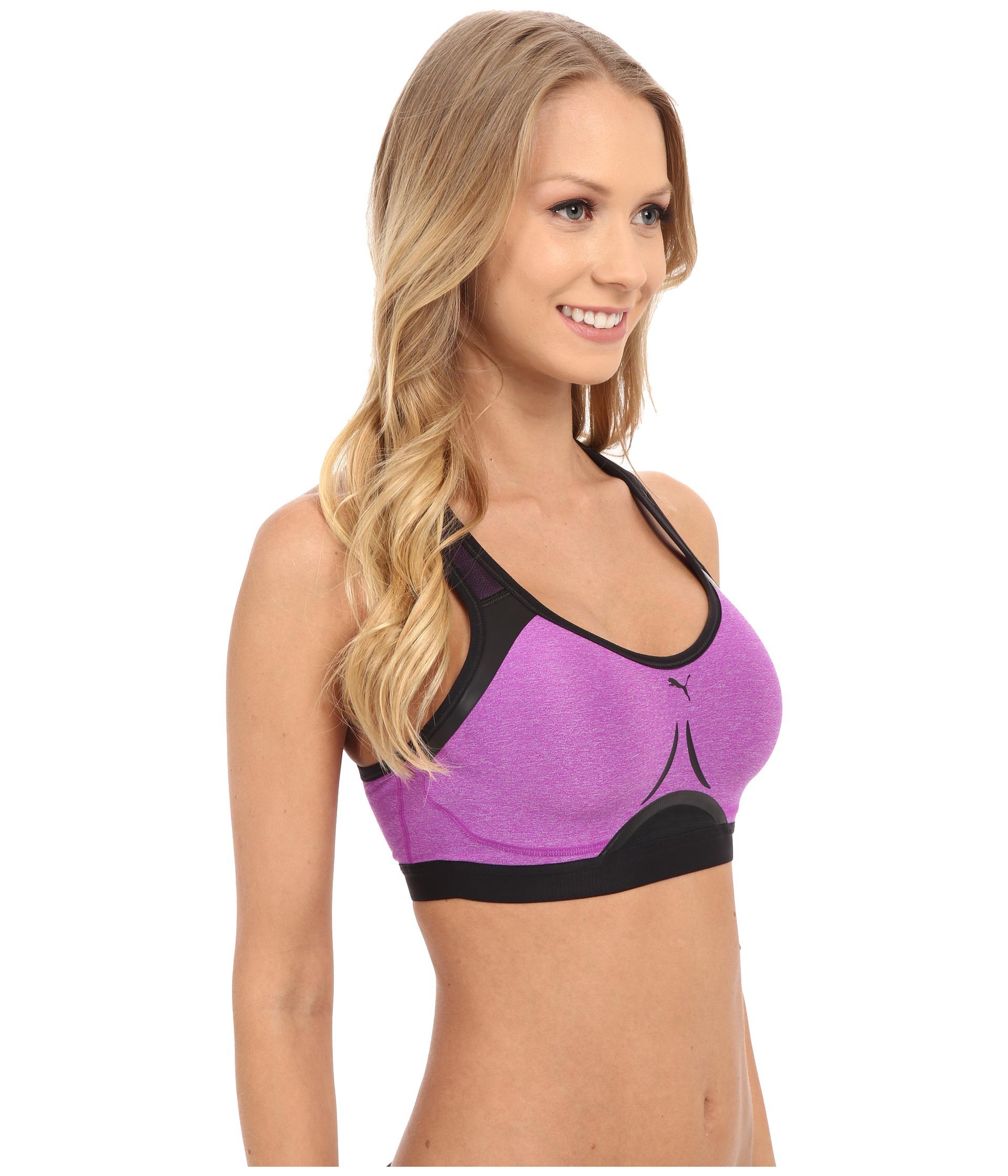 1c2980fca4d84 Lyst - PUMA Wt Powershape Bra in Purple