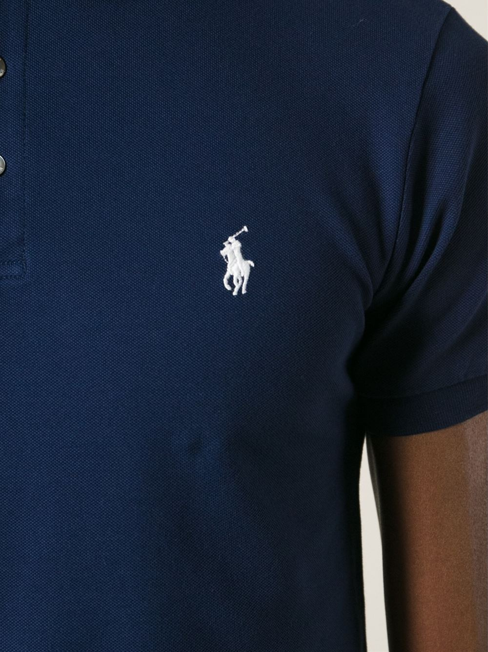 Lyst polo ralph lauren embroidered logo polo shirt in for My logo on a shirt