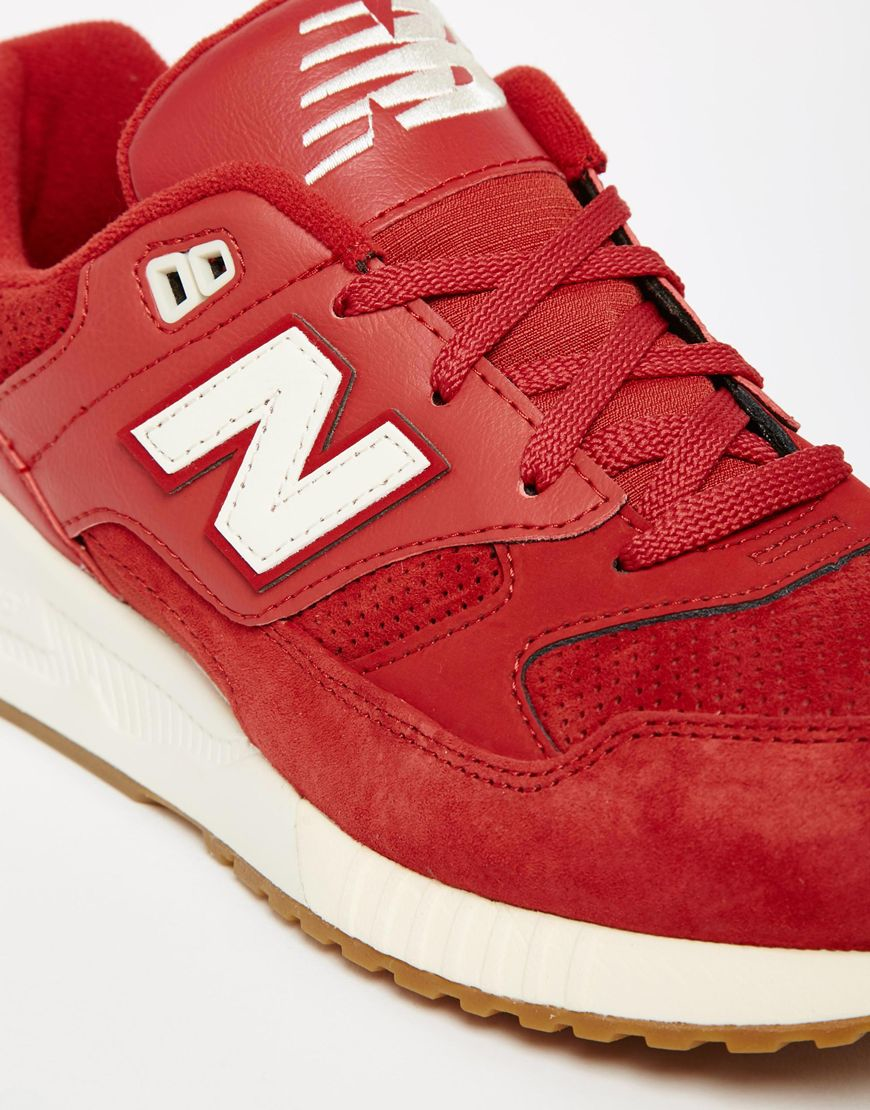 new balance red 530 trainers