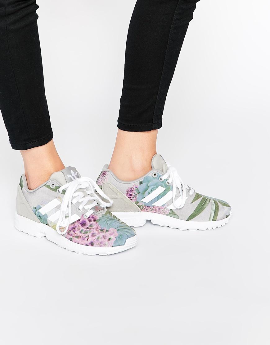 adidas flux trainers grey