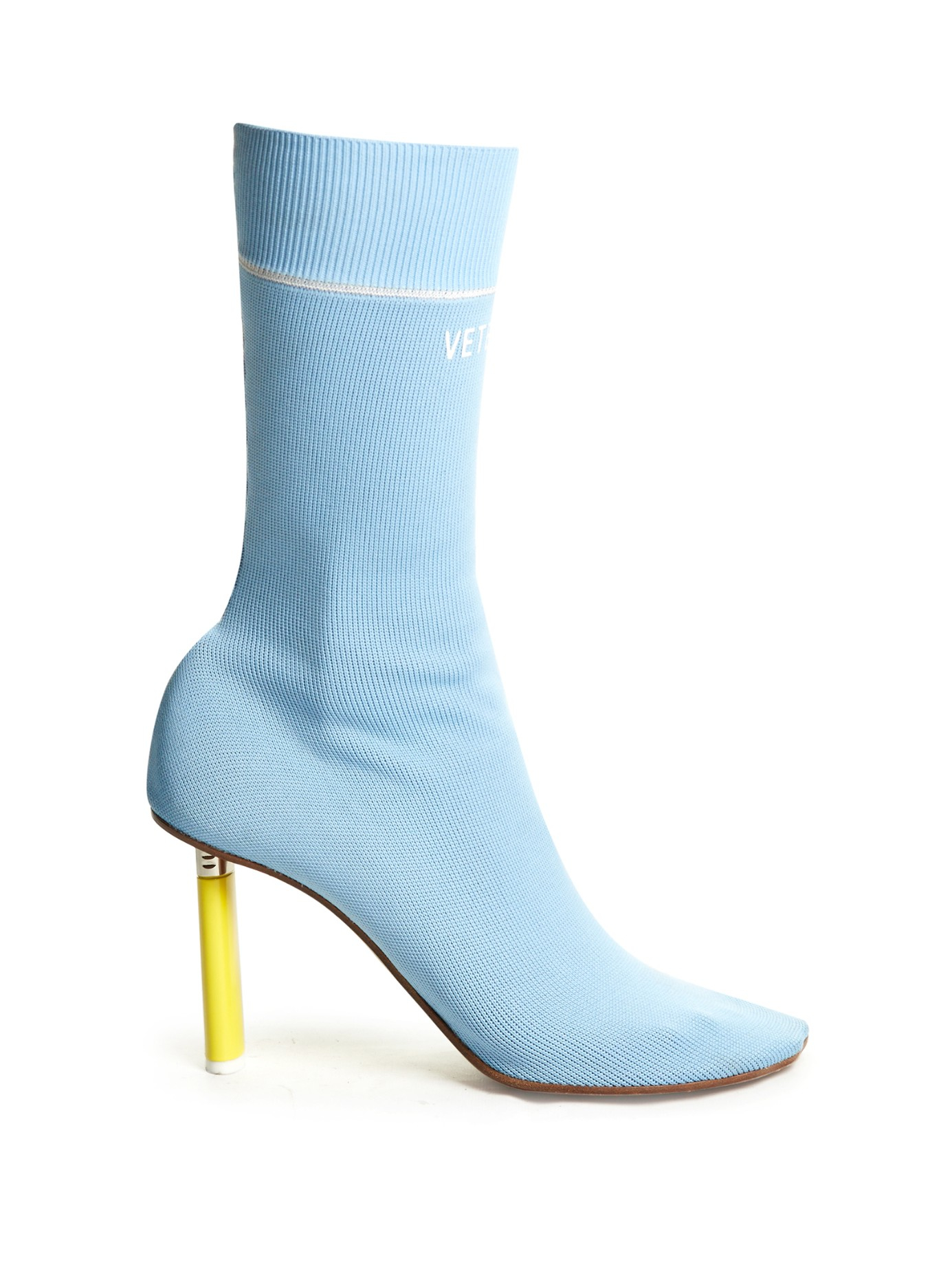 Vetements Sock Ankle Boots In Blue Lyst