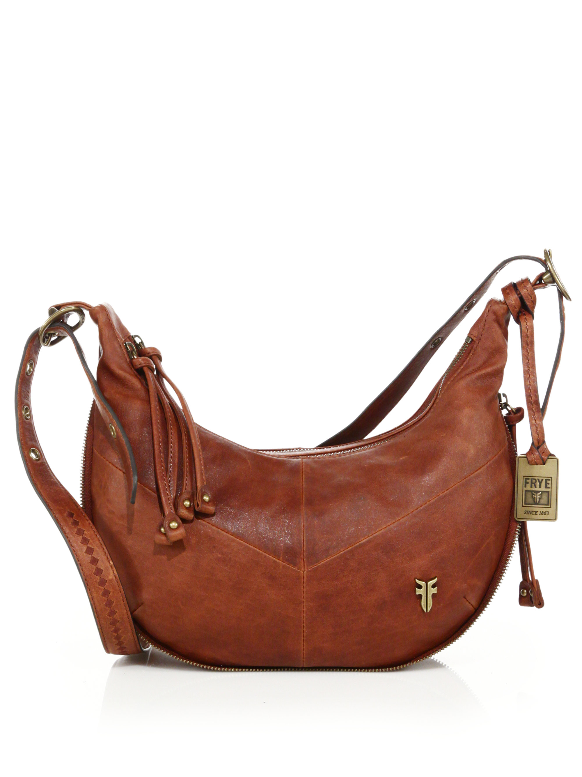 deb6302758834b Frye Belle Bohemian Leather Crossbody Bag in Brown - Lyst
