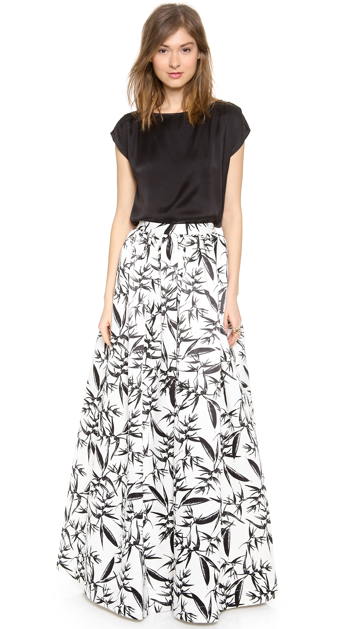 Lyst - Alice + Olivia Alice Olivia Abaella Long Ball Gown Skirt in Black