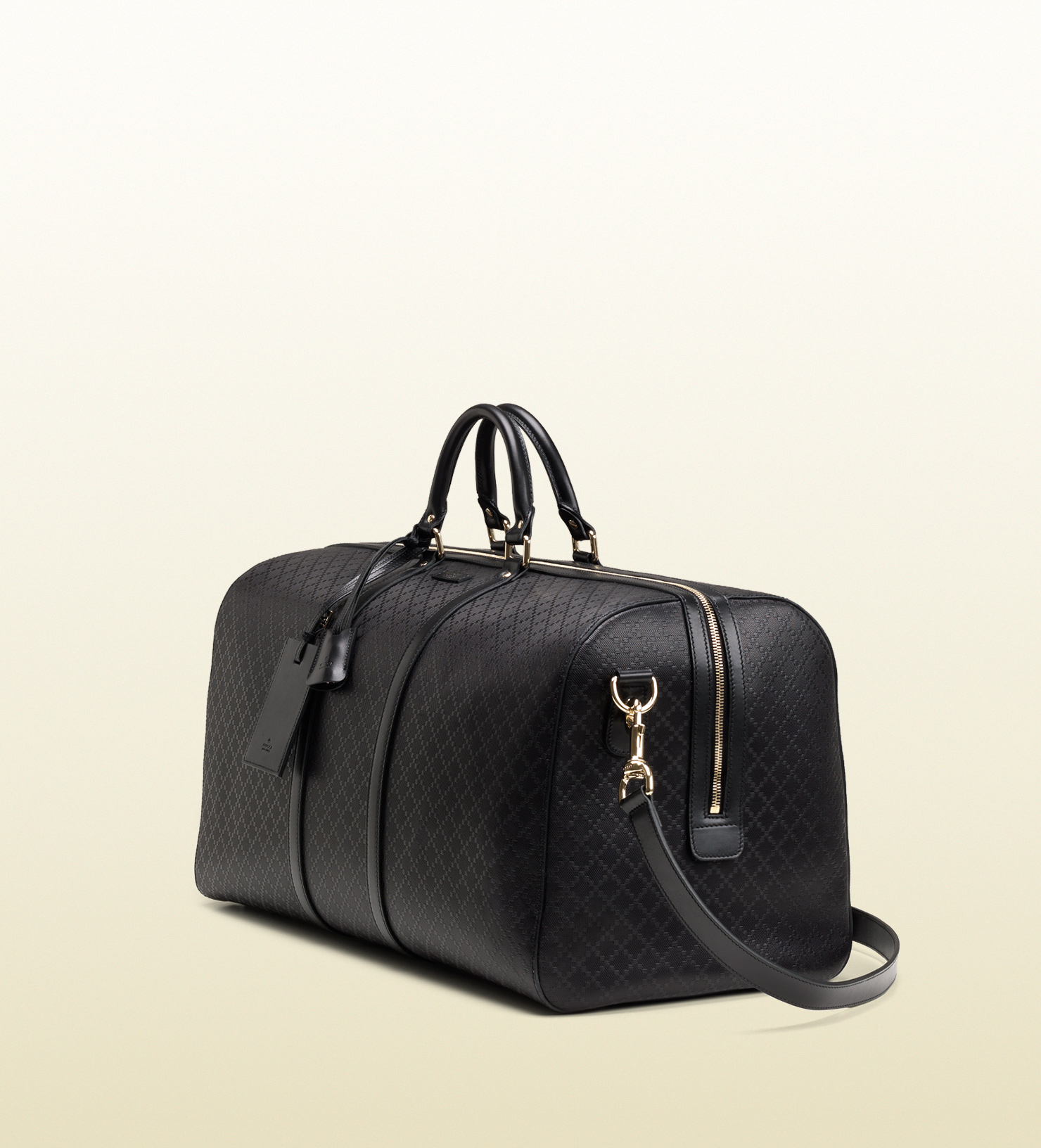Lyst Gucci Bright Diamante Leather Carry On Duffle Bag