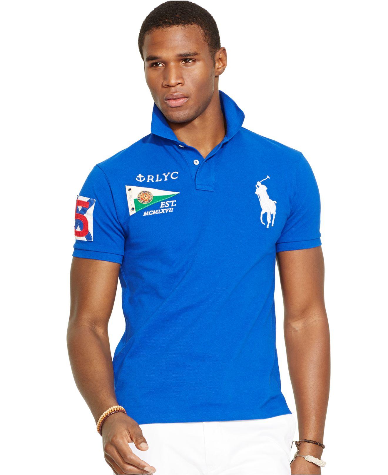 1f557933d7c Polo Ralph Lauren Custom Fit Polo Shirt Royal Blue ...