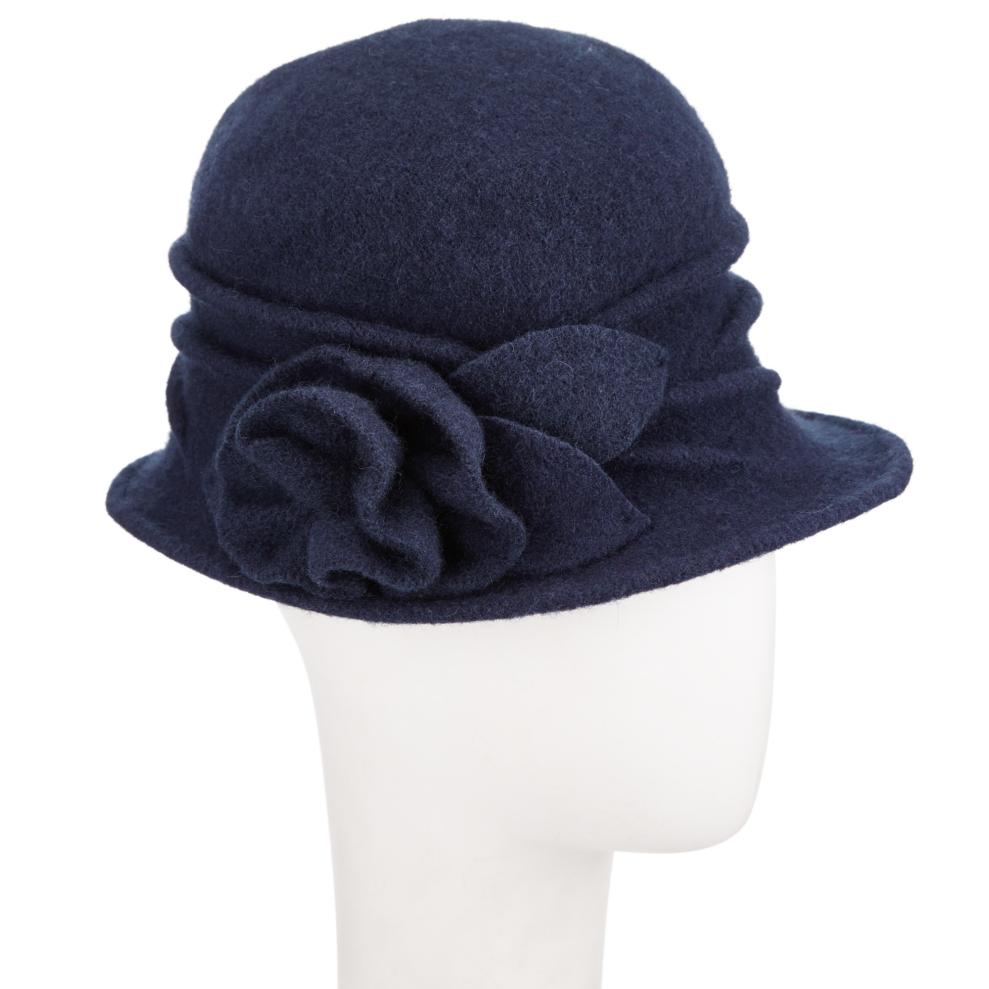 John Lewis Wool Pleat Rose Cloche Hat in Blue - Lyst 73ea87db54c