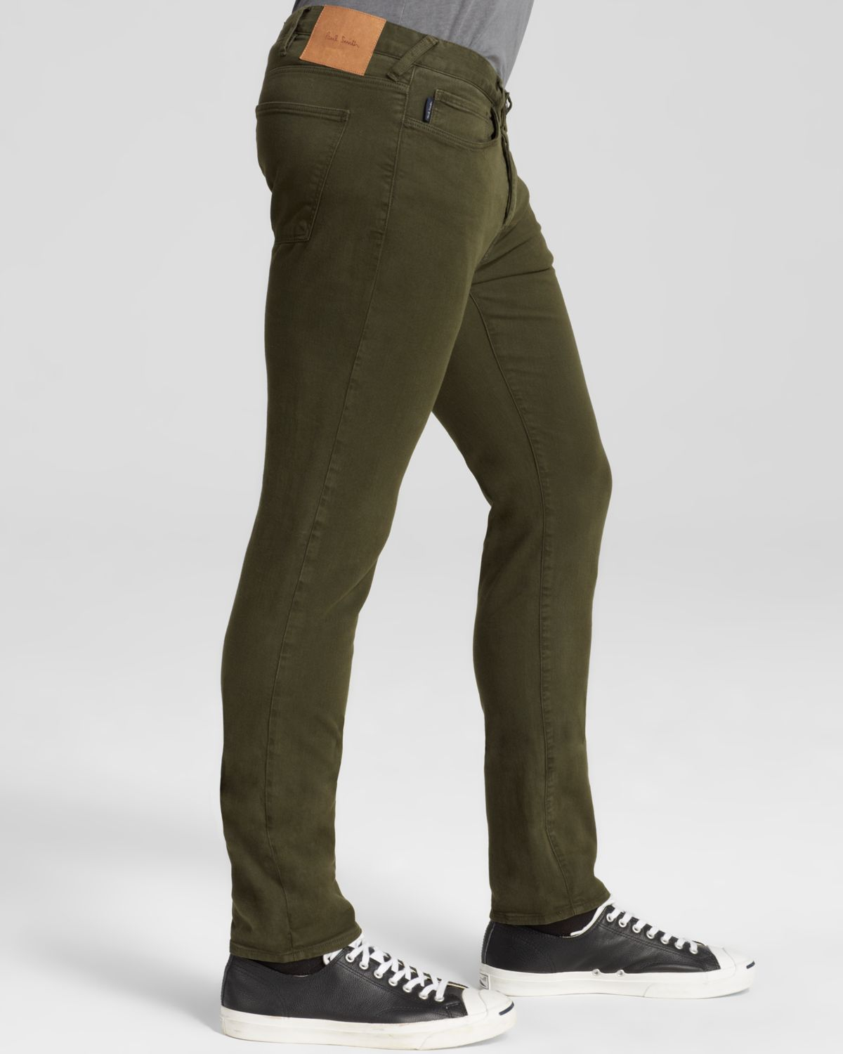 Paul smith Jeans - 5 Pocket Slim Fit In Khaki Green in Green for ...