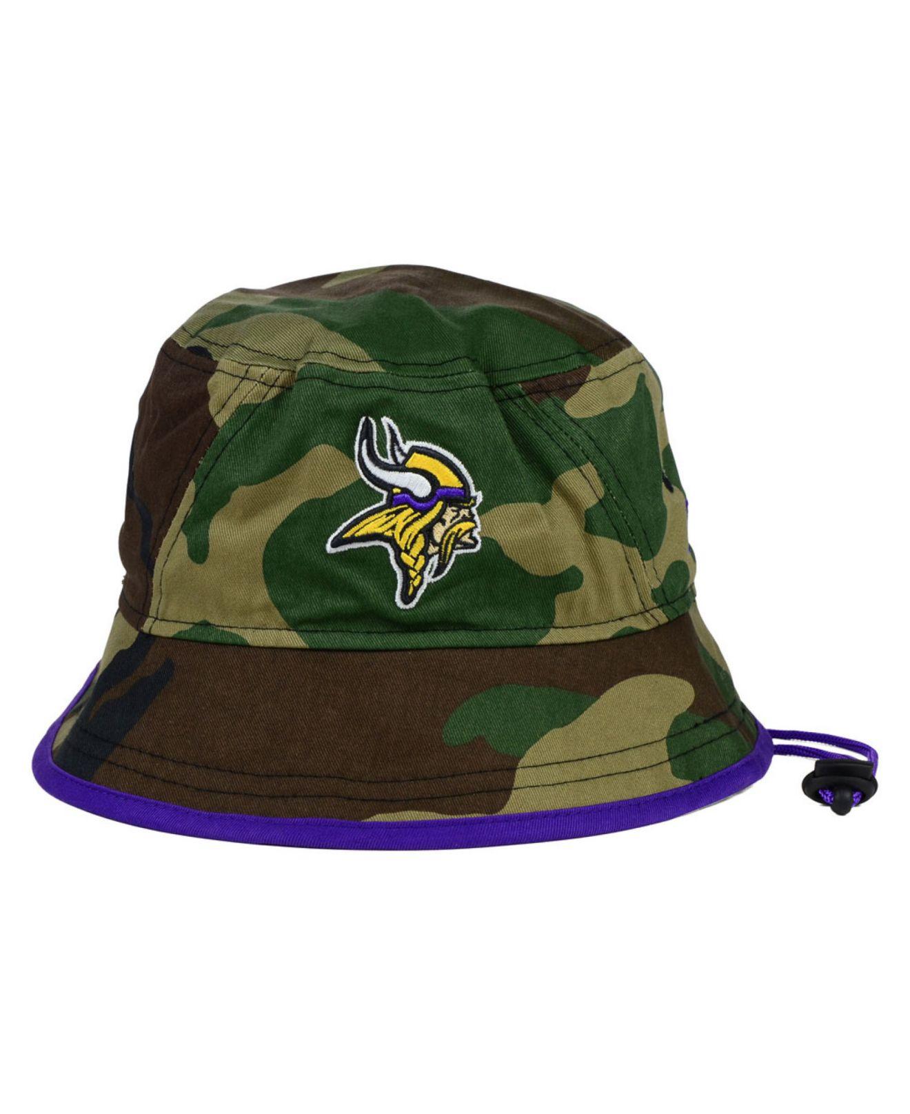 395d2faec Lyst - KTZ Minnesota Vikings Camo Pop Bucket Hat in Green for Men