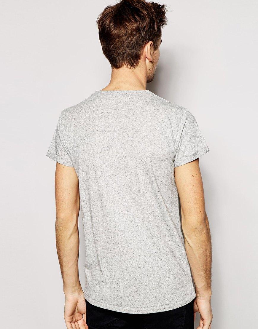 Selected selected tri marl t shirt grey in gray for men for Grey marl t shirt