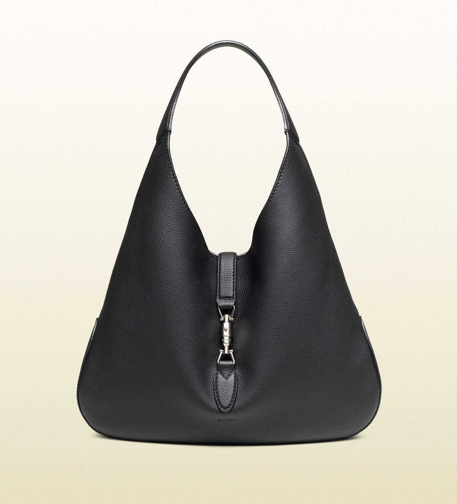 Lyst - Gucci Jackie Soft Leather Hobo in Black