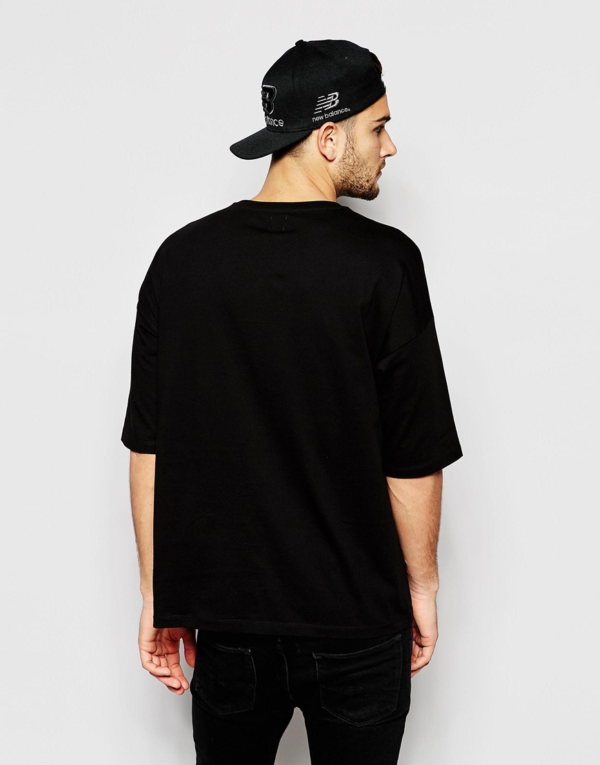Oversized black t shirt - Gallery