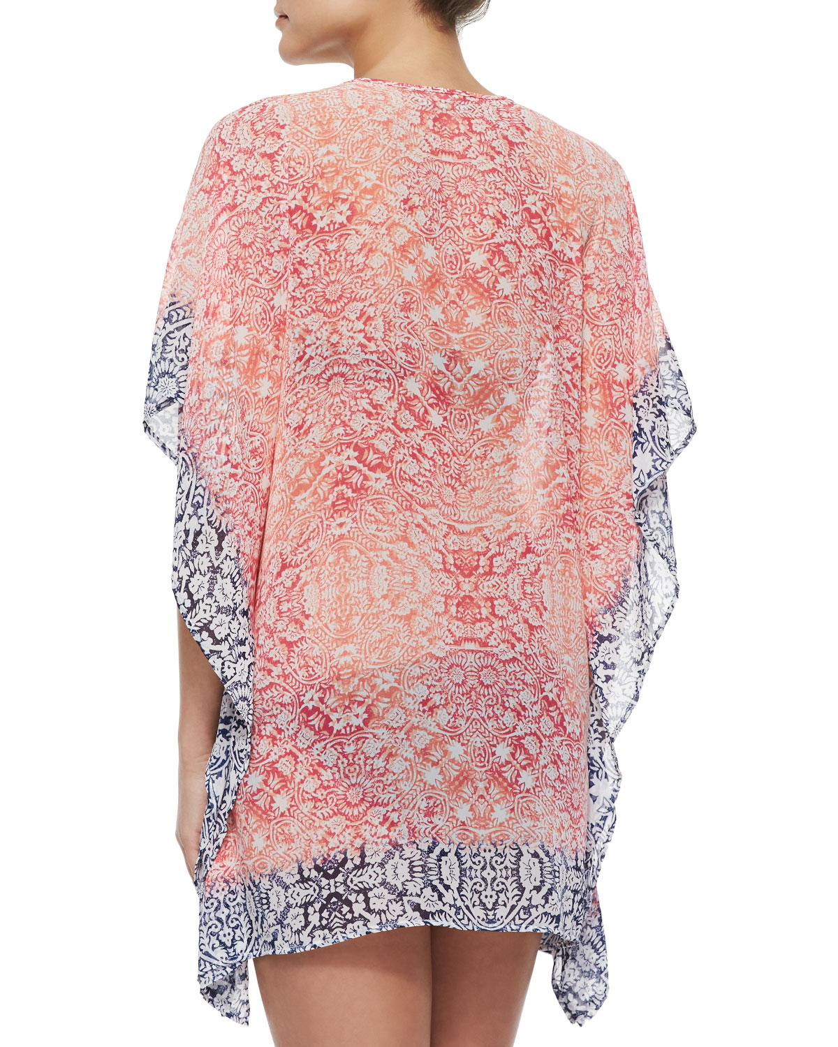 97c5705193 Lyst - Tommy Bahama Asymmetric Printed Tunic in Pink