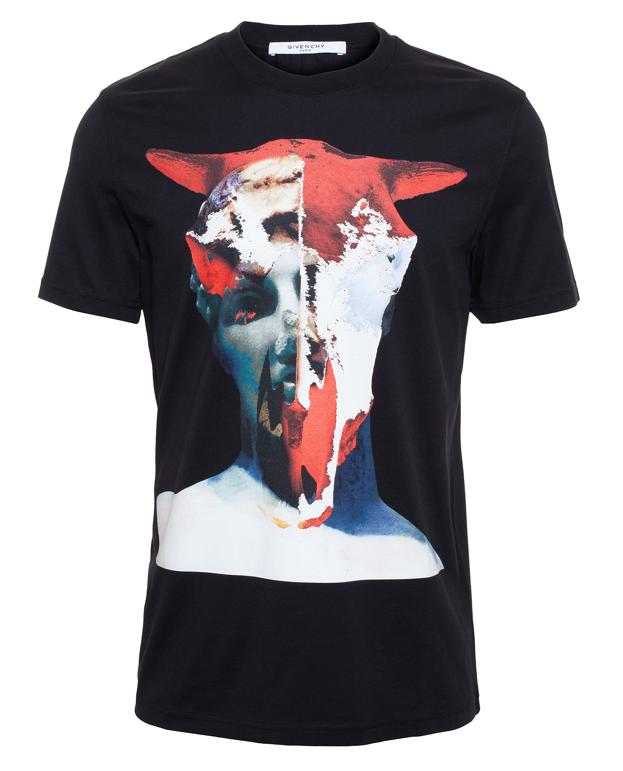 Givenchy Cow Skull And Statue T Shirt In Black For Men Lyst