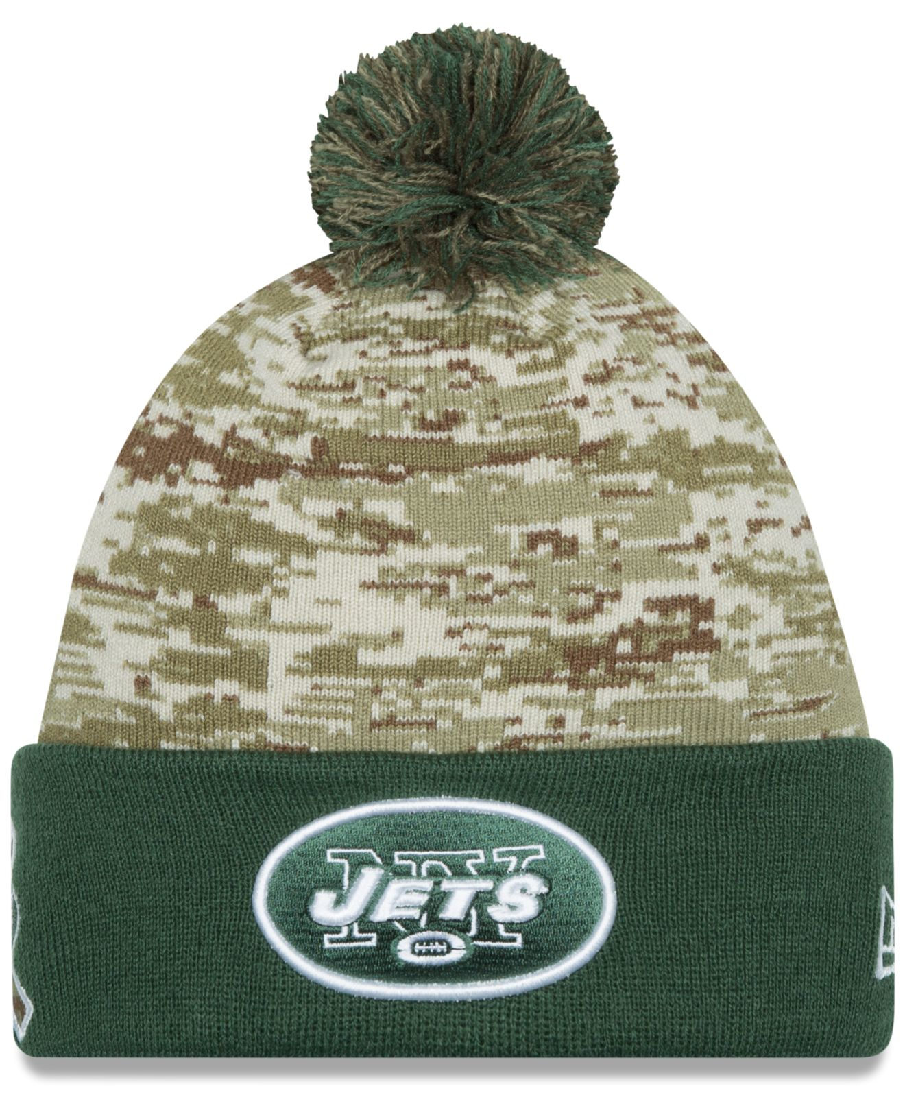 quality design 6bd12 58f6e KTZ New York Jets Salute To Service Knit Hat in Green for Men - Lyst