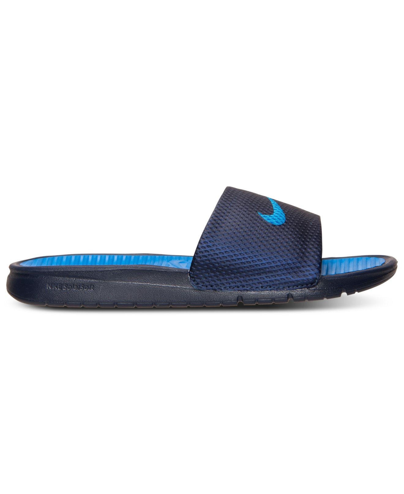 d6fedf2e1 ... spain lyst nike mens benassi solarsoft slide sandals from finish line  bbca0 6699d