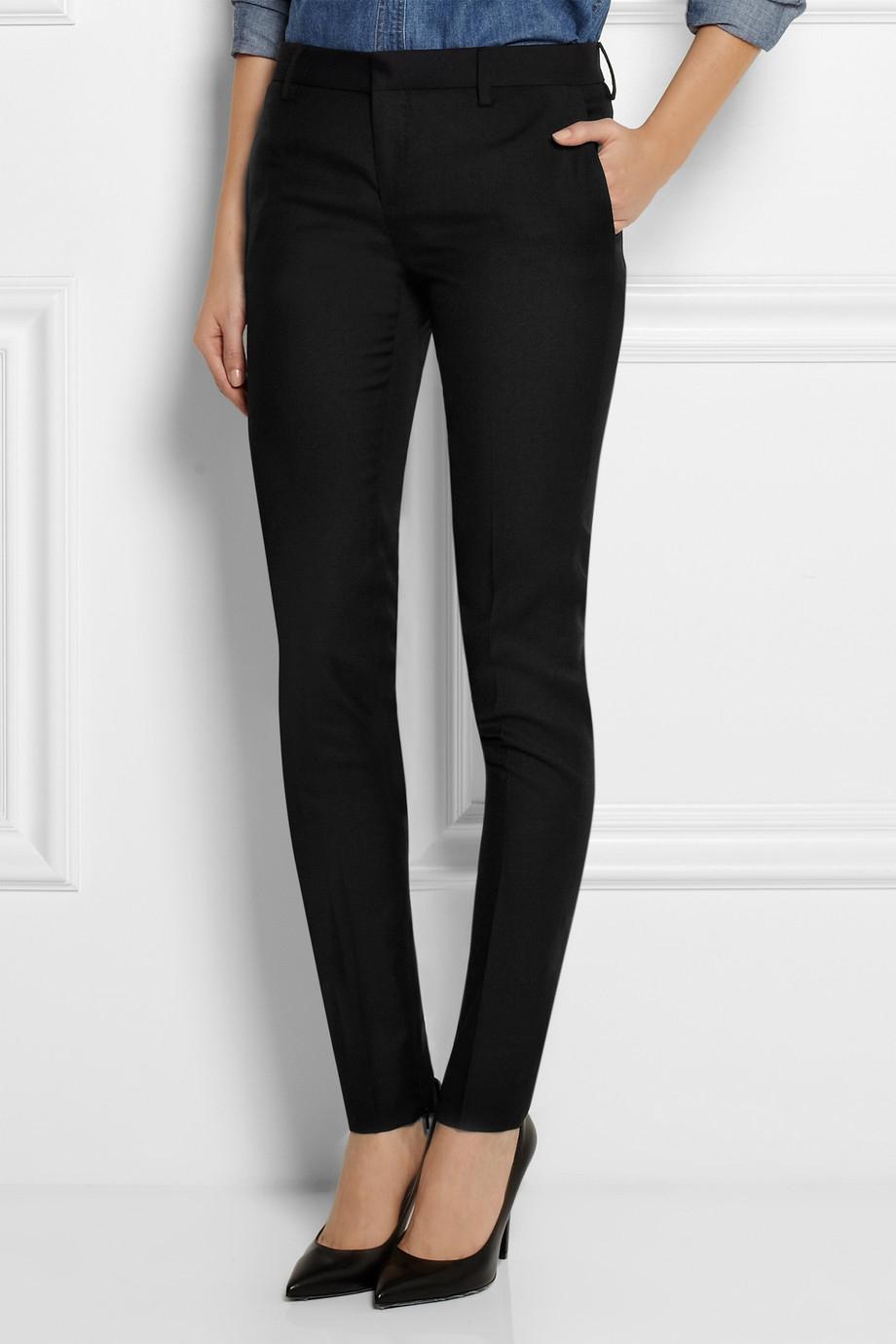 Saint Laurent gabardine skinny trousers Best Place Sale Online D1hUb7jC