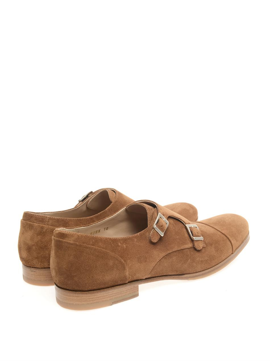 c908d7d8f99c Lyst - Mr. Hare Double Monkstrap Suede Shoes in Brown for Men