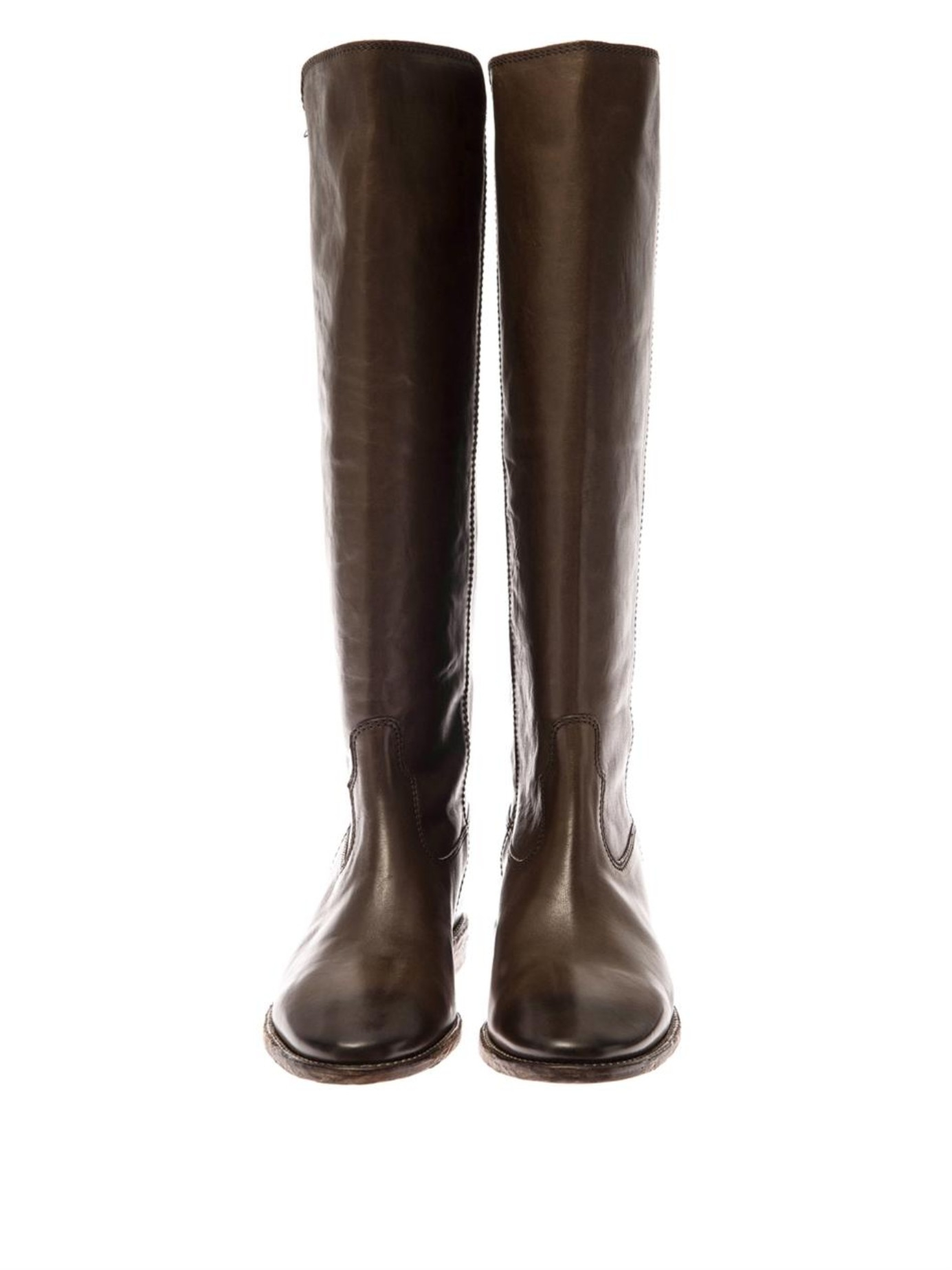 isabel marant chess leather boots in brown lyst. Black Bedroom Furniture Sets. Home Design Ideas