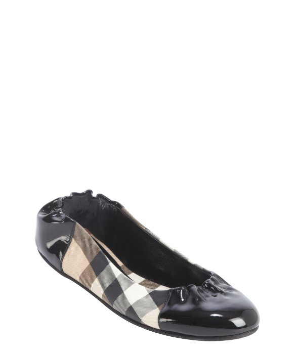 Burberry check canvas ballerinas