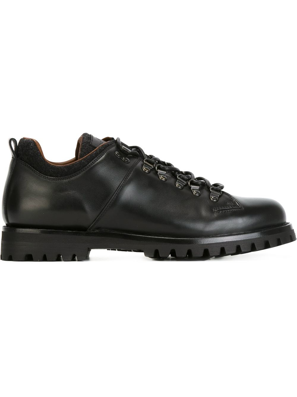 car shoe lace up chunky shoes in black for lyst