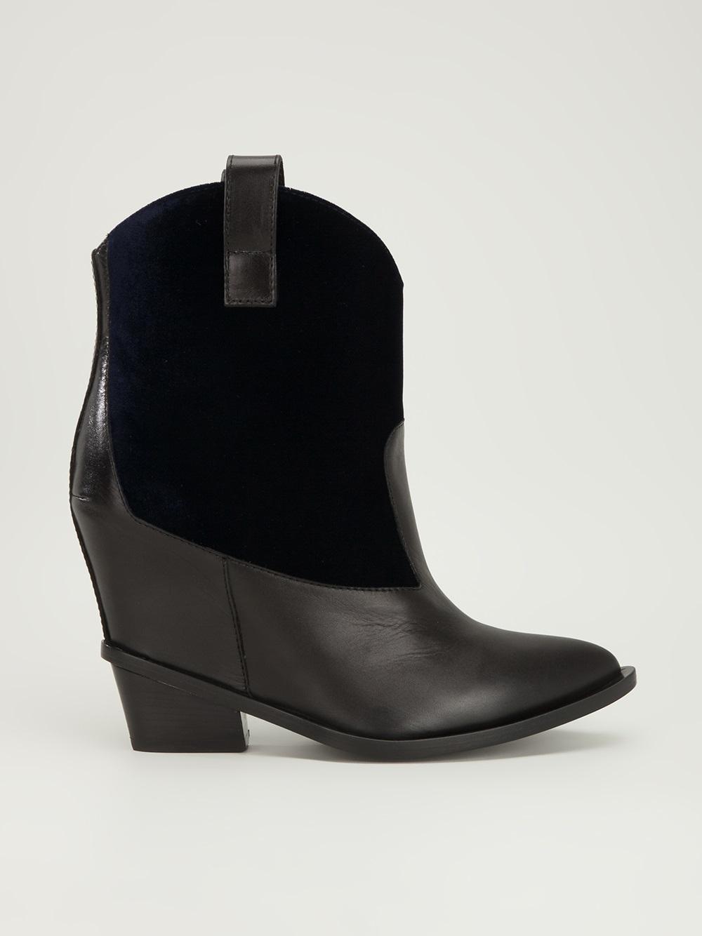 c059ab96cdc2 Lyst - Giuseppe Zanotti Wedge Cowboy Boot in Blue
