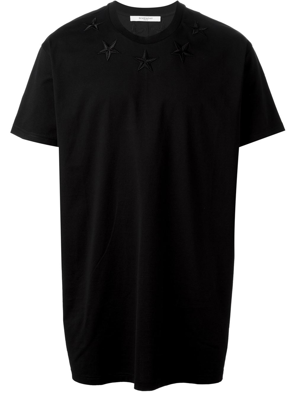 Very Lyst - Givenchy Star-Embroidered Cotton T-Shirt in Black for Men LL39