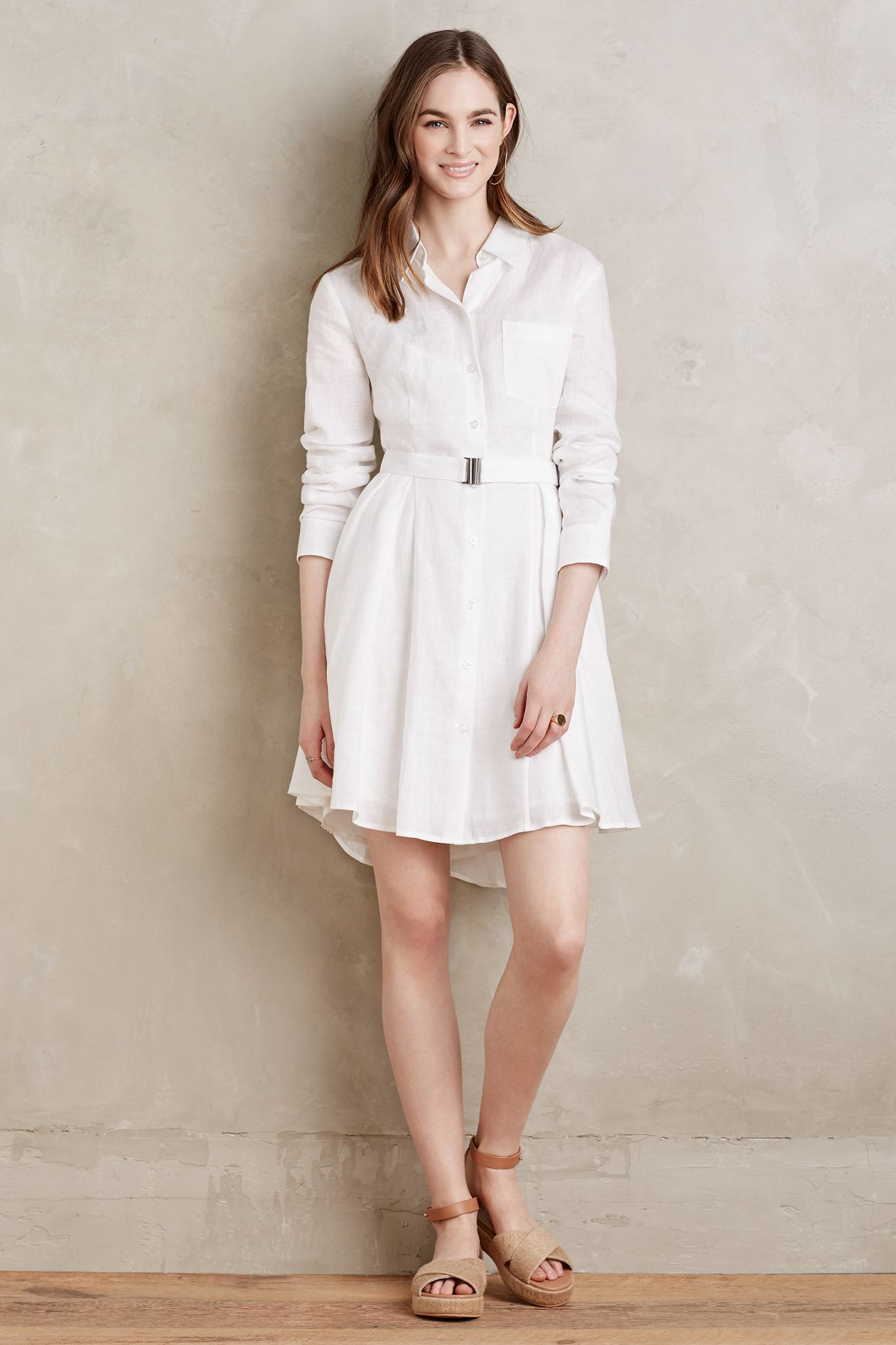Lyst Hd In Paris Laila Linen Shirtdress In White