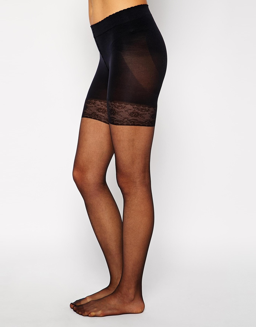 e1bce63a14b Lyst - Gipsy 15 Denier Thigh Bum And Tum Shaper Tights in Black