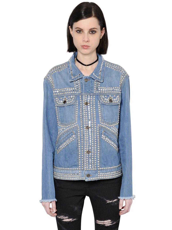 Outlet 2018 Womens Embroidered Cotton Chambray Shirt Saint Laurent Outlet Professional Best Sale Cheap Online Discount Huge Surprise jKvODIe