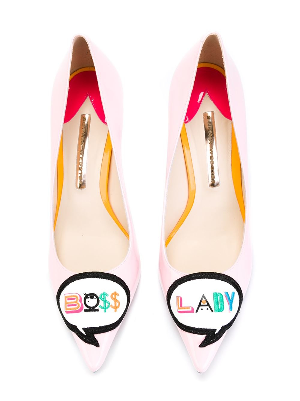 dcf06fdc76c Lyst - Sophia Webster Boss Lady Patent-Leather Pumps in Pink