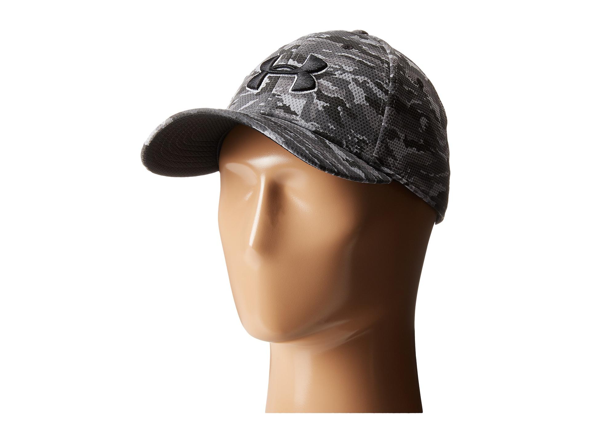 Lyst Under Armour Ua Print Blitzing Stretch Fit Cap In