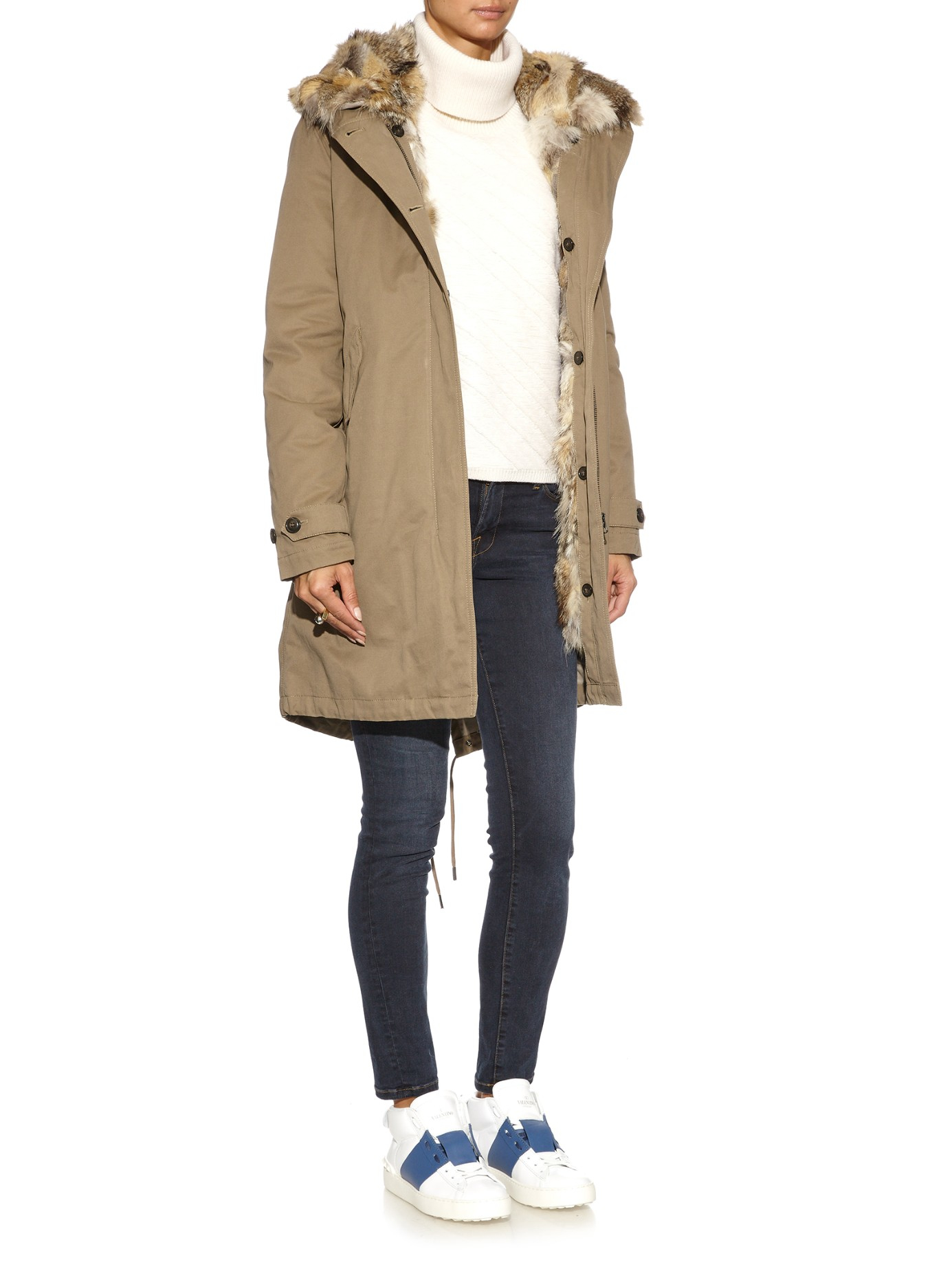 Woolrich Literary Eskimo Fox Fur-Lined Parka in Natural