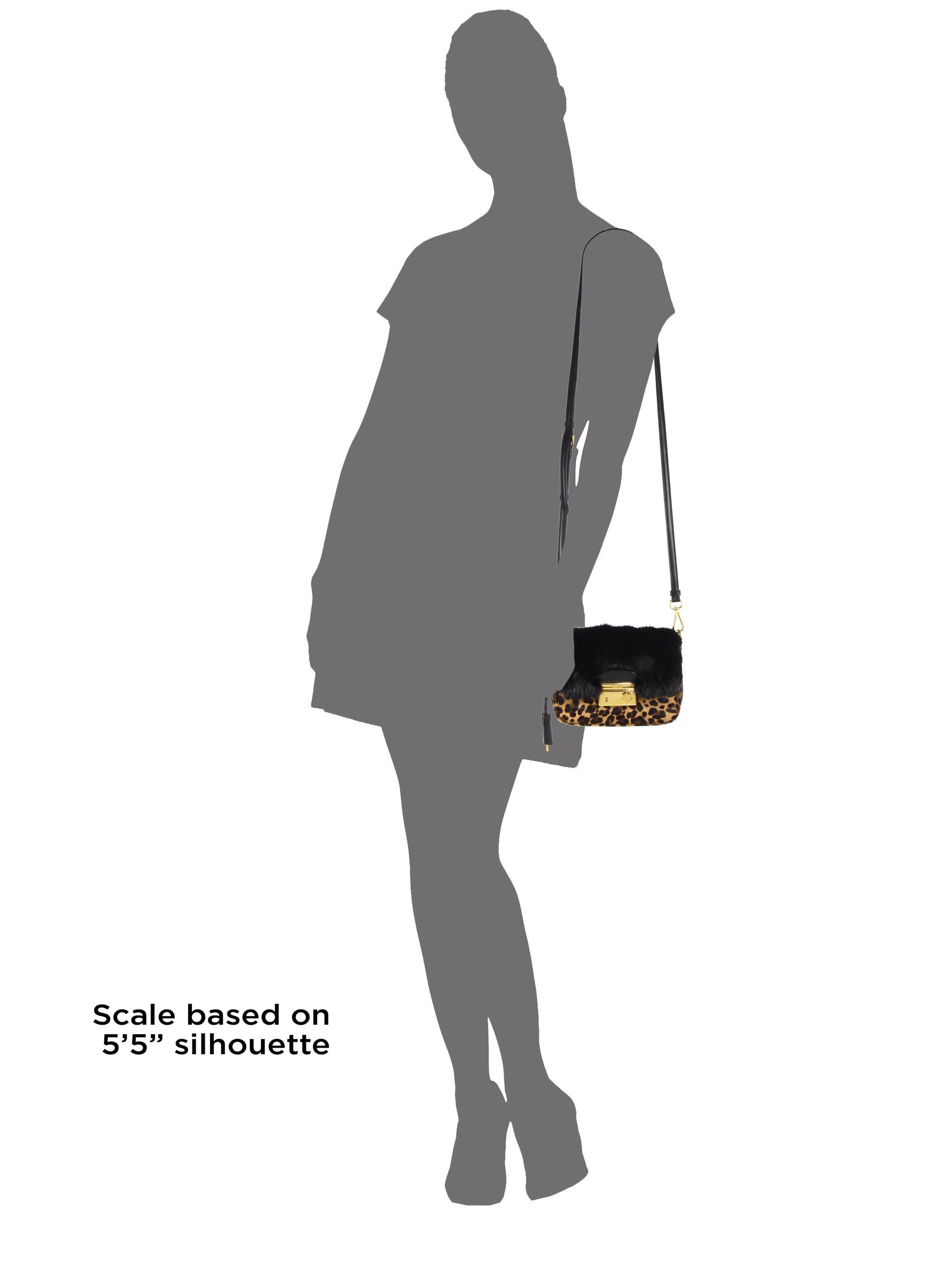 Prada Cavallino \u0026amp; Mink Fur Crossbody Bag in Black (LEOPARD) | Lyst