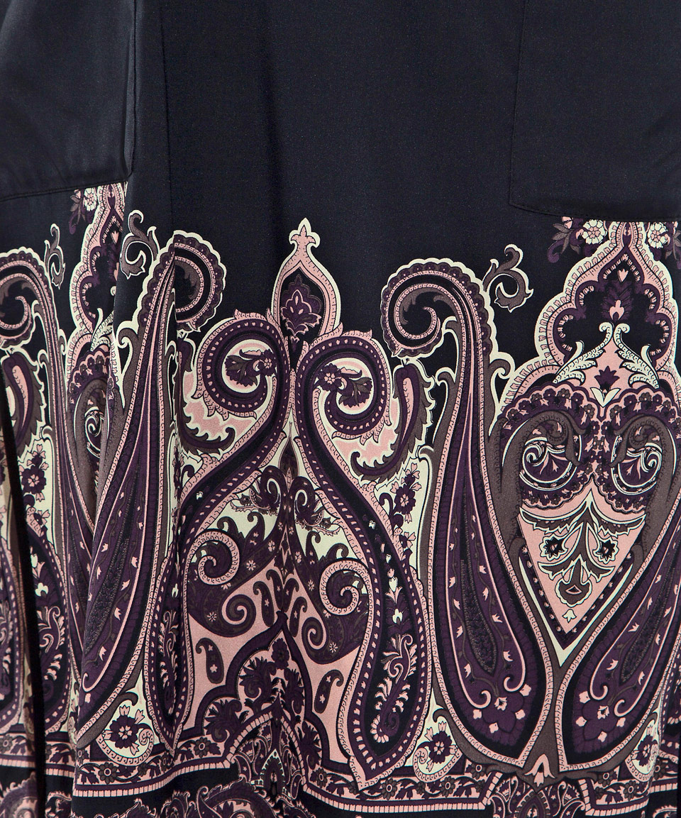 lyst day birger et mikkelsen black mythic print hem silk. Black Bedroom Furniture Sets. Home Design Ideas
