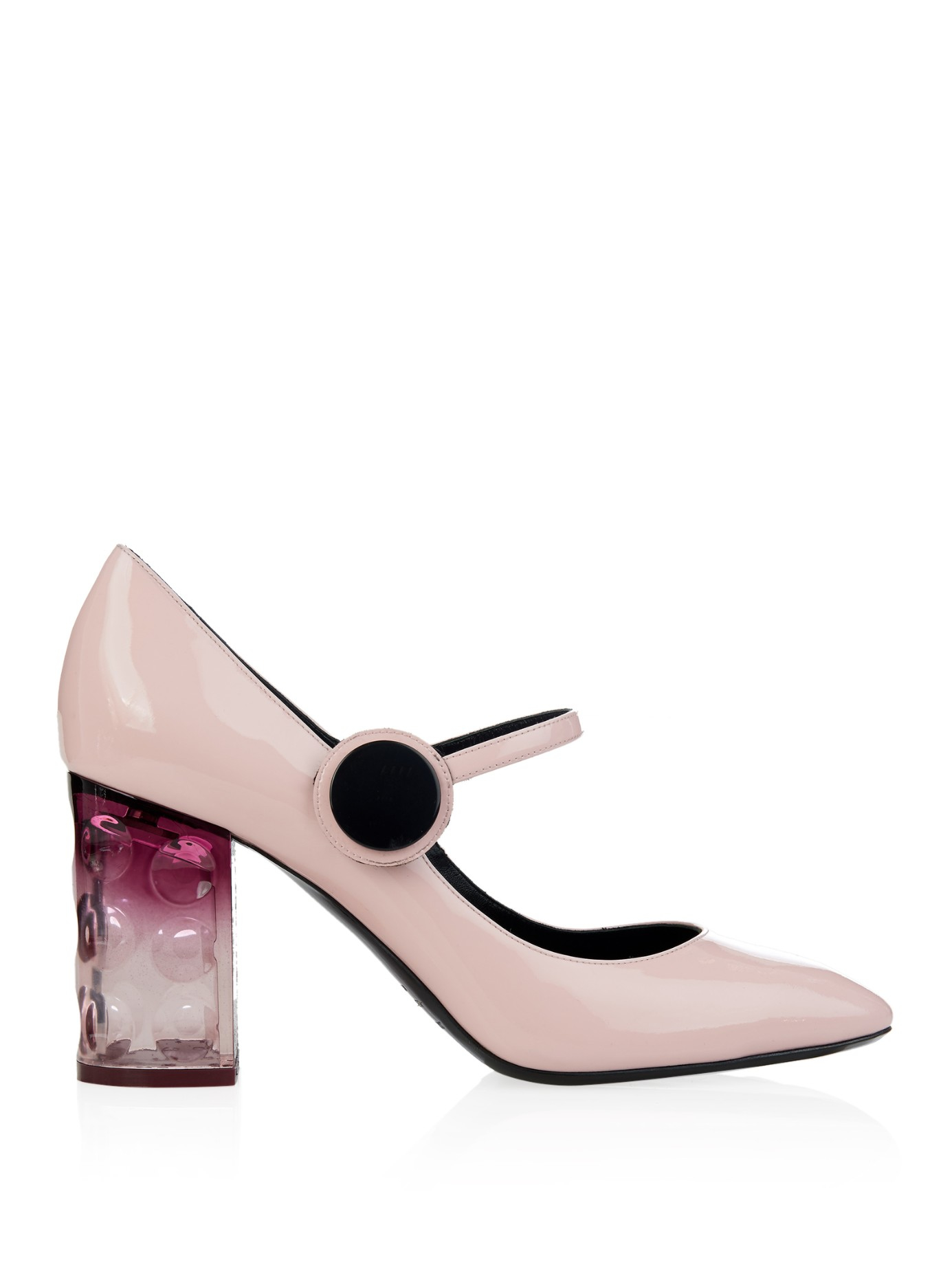 31a190f12d0 Nicholas Kirkwood Carnaby Patent-Leather Block-Heel Pumps in Pink - Lyst